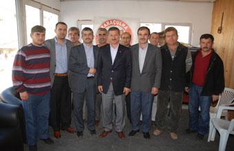 Photo of Yeni Başkana İlk Ziyaret Oda Başkanı Soydemir'den